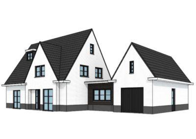 Modern landelijke villa met bijgebouw