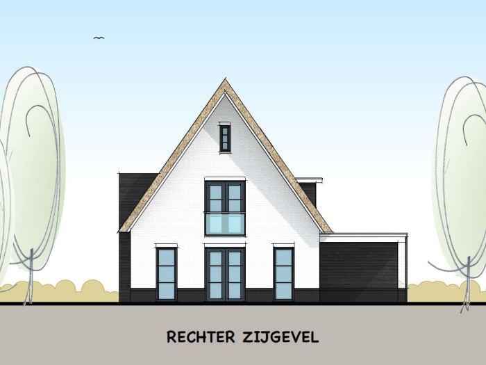 Eigentijds landelijke villa met toelopende dakpunten varexhuis