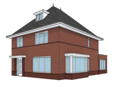 Karakteristieke woning met schildkap en uitbouw