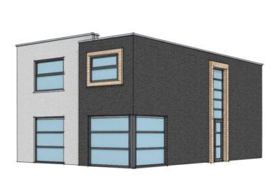 Moderne woning met plat dak
